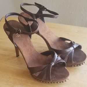 Cathy Jean faux Wood Heels